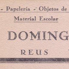 Coleccionismo Papel secante: J.DOMINGO REUS 8X16 CTMS. . Lote 177371305