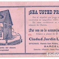 Collezionismo Carta assorbente: PAPEL SECANTE PUBLICIDAD CIUDAD JARDIN LA FLORIDA. TAMAÑO: 21,8 X 10CM. PASECA-187. Lote 178198553