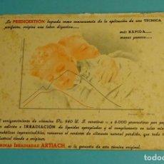 Coleccionismo Papel secante: PAPEL SECANTE CON PUBLICIDAD HARINAS IRRADIADAS ARTIACH. Lote 178203878
