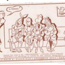 Coleccionismo Papel secante: DENTICHLOR, LABORATORIO A. KLAEBISCH BARCELONA. LOTE DE DOS PAPELES SECANTES.. Lote 178676531