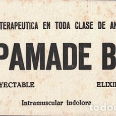 Coleccionismo Papel secante: PAPEL SECANTE PUBLICIDAD LABORATORIO HEPAMADE B-12 INYECTABLE. TAMAÑO: 21 X 11CM. PASECA-252. Lote 178945407