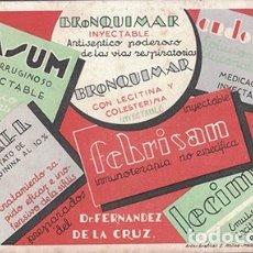 Coleccionismo Papel secante: PAPEL SECANTE PUBLICIDAD BRONQUIMAR. SEVILLA. DR. FDEZ. DE LA CRUZ. TAMAÑO: 20,5 X 12CM. PASECA-255. Lote 178945855