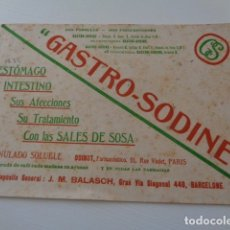 Coleccionismo Papel secante: GASTRO-SODINE. ANTIGUO PAPEL SECANTE. . Lote 181603457
