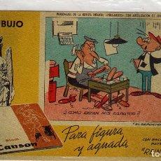 Coleccionismo Papel secante: DOS LAMINAS PAPEL SECANTE PERSONAJES DE PULGARCITO. Lote 183332188