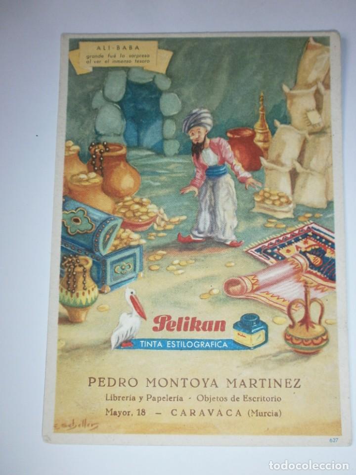 PAPEL SECANTE PELIKAN 627 SELLO PAPELERIA MONTOYA CARAVACA MURCIA NUEVO (Coleccionismo - Papel Secante)