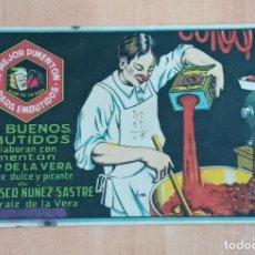 Coleccionismo Papel secante: PAPEL SECANTE PIMENTON DE FRANCISCO NUÑEZ SASTRE, JARAIZ DE LA VERA. Lote 184076561