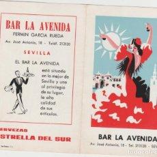 Coleccionismo Papel secante: LOTE B PUBLICIDAD BAR LA AVENIDA SEVILLA AÑOS 50?. Lote 184532353