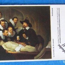 Coleccionismo Papel secante: PAPEL SECANTE LANIGITAL, PLURICARDIOL. PRODUCTO ROBERT. LA LECCIÓN DE ANATOMÍA, S/F.. Lote 186840505
