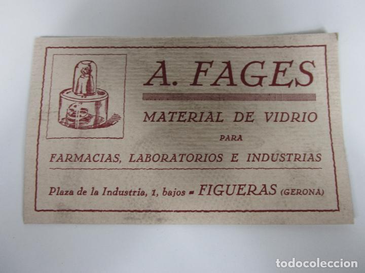 Coleccionismo Papel secante: Papel Secante - Publicidad A. Fages, Material de Vidrio Farmacias, Laboratorios -Figueras (Figueres) - Foto 5 - 189617485