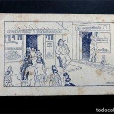 Coleccionismo Papel secante: PAPEL SECANTE / PRODUCTOS RIERA MARSÁ / ILUSTRADO POR CASTANYS / 16 X 10. Lote 190850865