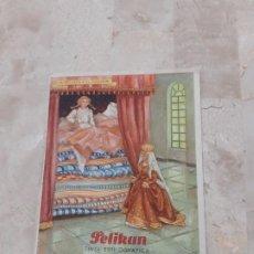 Coleccionismo Papel secante: SECANTE PELIKAN CUENTOS PUBLICIDAD PAPELERIA DE CASTELLON AÑOS 50. Lote 191065817