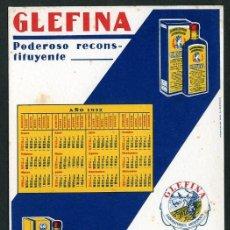 Collectionnisme Papier buvard: *GLEFINA - LASA. LABORATORIOS ANDRÓMACO* CALENDARIO AÑO 1932. MEDS: 131X180 MMS.. Lote 72139035