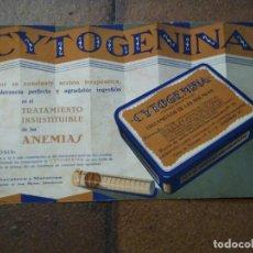 Coleccionismo Papel secante: SECANTE CYTOGENINA, ANEMIAS. LLOPIS. FARMACIA. BUEN TAMAÑO.. Lote 191470065