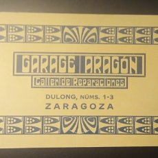 Coleccionismo Papel secante: SECANTE, ZARAGOZA, GARAGE ARAGON,. Lote 191481335