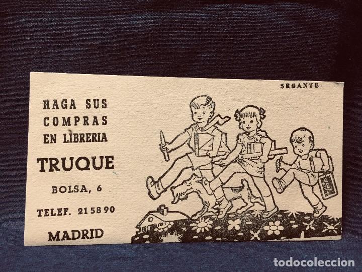 PAPEL SECANTE HAGA SUS COMPRAS EN LIBRERIA TRUQUE BOLSA 6 MADRID 8,5X16CMS (Coleccionismo - Papel Secante)