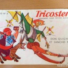 Coleccionismo Papel secante: TRICOSTERIL. PAPEL SECANTE CON DON QUICHOTE ET SANCHO PANÇA. Lote 192524776
