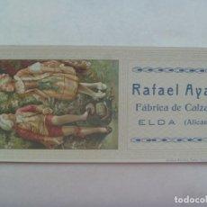 Coleccionismo Papel secante: PAPEL SECANTE DE PRINCIPIOS DE SIGLO, PUBLICIDAD FABRICA DE CALZADOS RAFAEL AYALA, ELDA ( ALICANTE . Lote 193617956