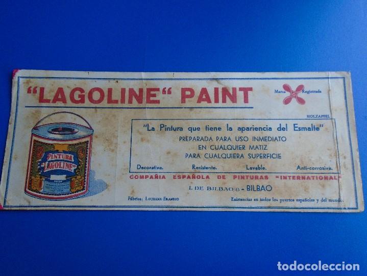 SECANTE LAGOLINE PAINT (Coleccionismo - Papel Secante)
