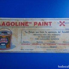 Coleccionismo Papel secante: SECANTE LAGOLINE PAINT. Lote 193853330