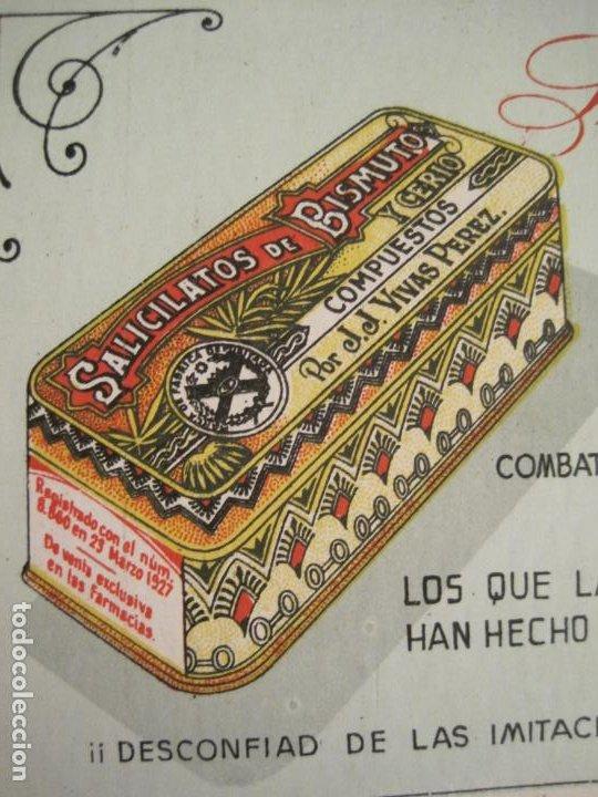 Coleccionismo Papel secante: SALICILATOS DE BISMUTO Y CERIO DE VIVAS PEREZ-PAPEL SECANTE CON PUBLICIDAD-VER FOTOS-(V-19.066) - Foto 3 - 194338498