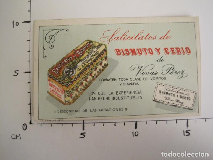 Coleccionismo Papel secante: SALICILATOS DE BISMUTO Y CERIO DE VIVAS PEREZ-PAPEL SECANTE CON PUBLICIDAD-VER FOTOS-(V-19.066) - Foto 5 - 194338498