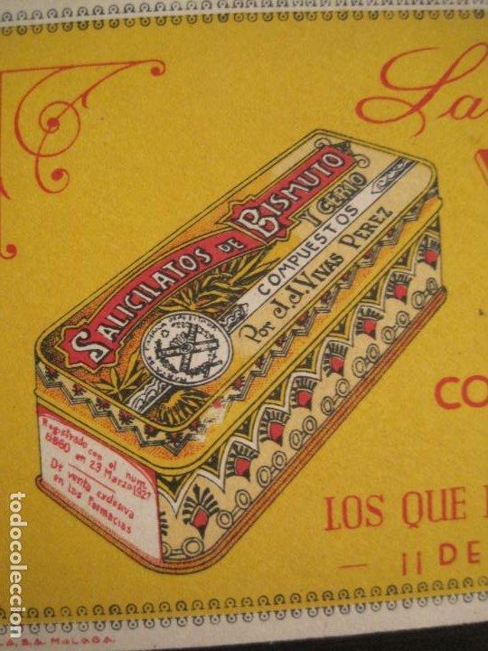 Coleccionismo Papel secante: SALICILATOS DE BISMUTO Y CERIO DE VIVAS PEREZ-PAPEL SECANTE CON PUBLICIDAD-VER FOTOS-(V-19.067) - Foto 3 - 194338615