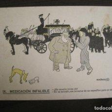 Coleccionismo Papel secante: MEDICACION INFALIBLE-DIBUJO DE CASTANYS-PAPEL SECANTE CON PUBLICIDAD-VER FOTOS-(V-19.069). Lote 194339813