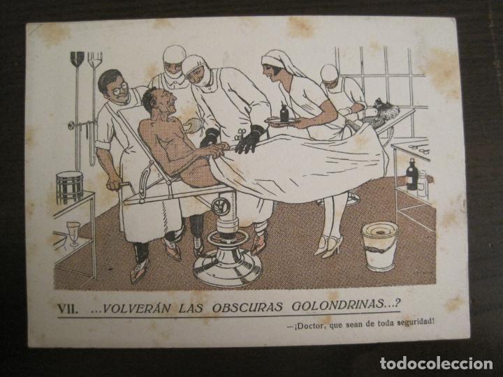 VOLVERAN LAS OSCURAS GOLONDRINAS?-DOCTORES-PAPEL SECANTE CON PUBLICIDAD-VER FOTOS-(V-19.070) (Coleccionismo - Papel Secante)