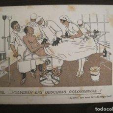 Coleccionismo Papel secante: VOLVERAN LAS OSCURAS GOLONDRINAS?-DOCTORES-PAPEL SECANTE CON PUBLICIDAD-VER FOTOS-(V-19.070). Lote 194340226