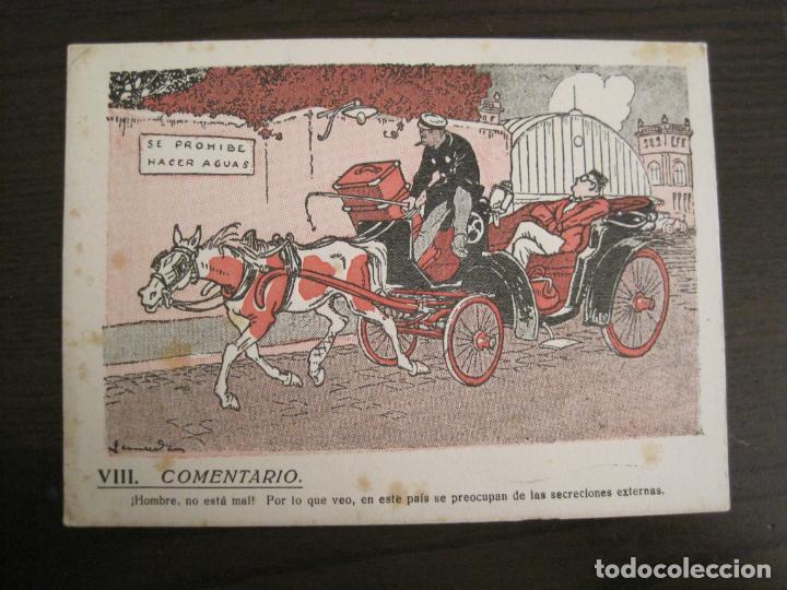 VIII COMENTARIO-DIBUJO DE JUNCEDA-PAPEL SECANTE CON PUBLICIDAD-VER FOTOS-(V-19.071) (Coleccionismo - Papel Secante)