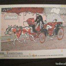 Coleccionismo Papel secante: VIII COMENTARIO-DIBUJO DE JUNCEDA-PAPEL SECANTE CON PUBLICIDAD-VER FOTOS-(V-19.071). Lote 194340486