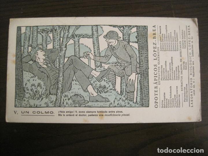 UN COLMO-OPOTERAPICOS LOPEZ BREA-DIBUJO DE APA-PAPEL SECANTE CON PUBLICIDAD-VER FOTOS-(V-19.074) (Coleccionismo - Papel Secante)
