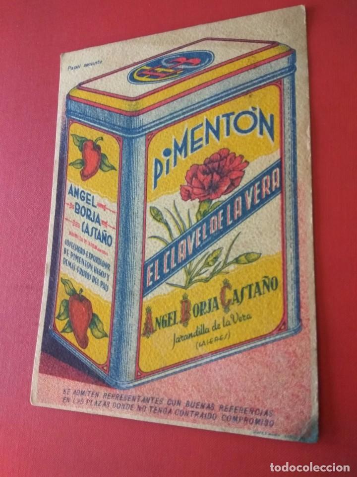 Coleccionismo Papel secante: PAPEL SECANTE PUBLICIDAD PIMENTÓN EL CLAVEL DE LA VERA - Foto 3 - 194579728