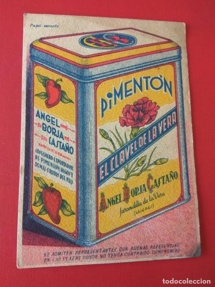 Coleccionismo Papel secante: PAPEL SECANTE PUBLICIDAD PIMENTÓN EL CLAVEL DE LA VERA - Foto 4 - 194579728