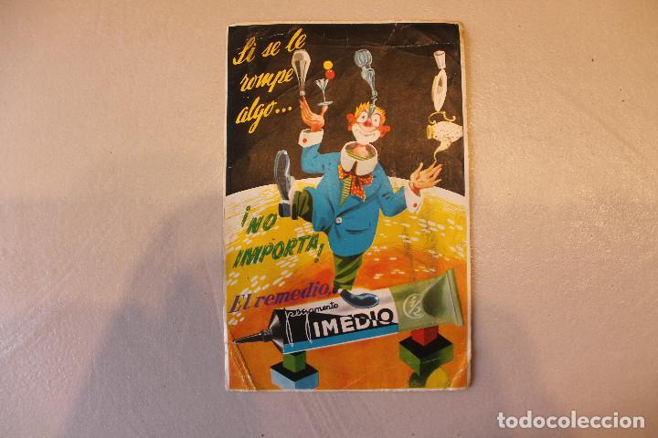 PEGAMENTO IMEDIO, PAPEL SECANTE, 14,50X9,50 CM (Coleccionismo - Papel Secante)