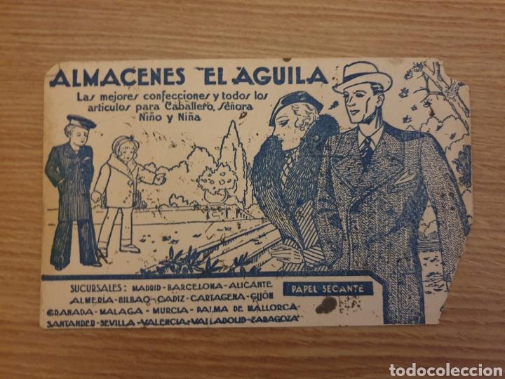 PAPEL SECANTE ALMACENES EL ÁGUILA (Coleccionismo - Papel Secante)