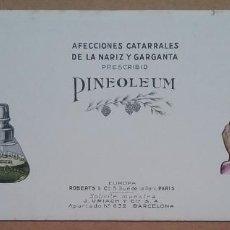 Coleccionismo Papel secante: PAPEL SECANTE PUBLICIDAD PINEOLEUM LABORATORIO J. URIACH AÑOS '30. Lote 195121706