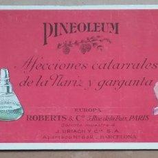 Coleccionismo Papel secante: PAPEL SECANTE PUBLICIDAD PINEOLEUM LABORATORIO J. URIACH AÑOS '30. Lote 195121788