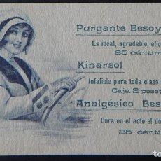 Coleccionismo Papel secante: SECANTE ANTIGUO / PURGANTE BESOY - KINARSOL - ANALGÉSICO BESOY / 815. Lote 195261887