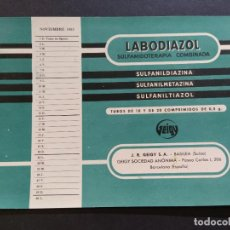 Coleccionismo Papel secante: PAPEL SECANTE ANTIGUO-PUBLICIDAD FARMACIA LABODIAZOL-GEIGY S.A.-NOVIEMBRE 1953-VER FOTOS-(V-19.272). Lote 195877265