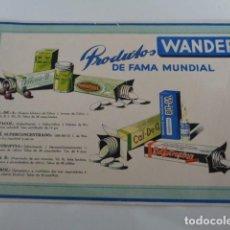 Coleccionismo Papel secante: WANDER. PRODUCTOS DE FAMA MUNDIAL. PAPEL SECANTE. 20 X 14 CMS. Lote 197739103