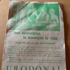 Coleccionismo Papel secante: ANTIGUO PAPEL SECANTE FARMACEUTICO. URODONAL. MIDE APROX 16X25CM. Lote 198632210