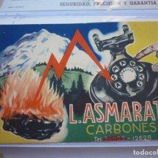 Collezionismo Carta assorbente: L. ASMARATS. CARBONES. PAPEL. SIN USO. 9 X 14 CM. UNICO EN TODOCOLECCION. Lote 199878651