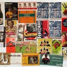 Coleccionismo Papel secante: LOTE DE 24 PAPELES SECANTES Y OTROS DE DIFERENTES TAMAÑOS, CAVA CODORNIU, ETC. VER FOTOS.. Lote 200274836