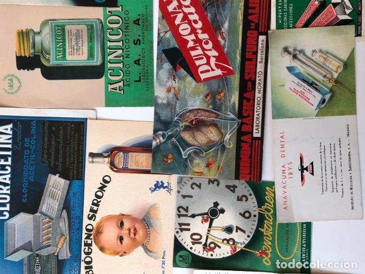 Coleccionismo Papel secante: LOTE DE 22 PAPELES SECANTES DE DIFERENTES TAMAÑOS. VER FOTOS. - Foto 3 - 200276230