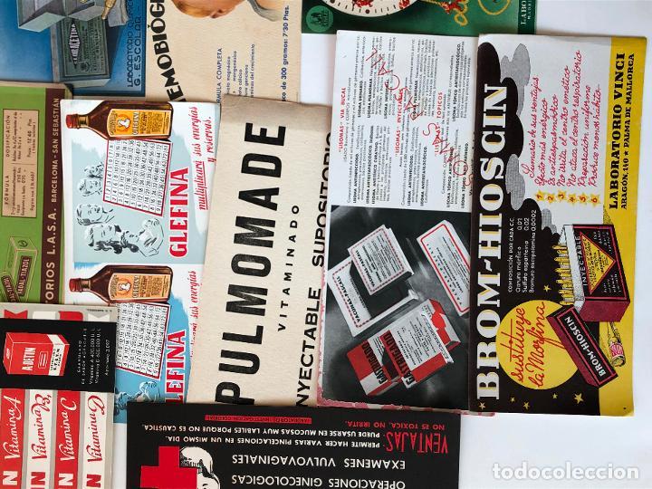 Coleccionismo Papel secante: LOTE DE 22 PAPELES SECANTES DE DIFERENTES TAMAÑOS. VER FOTOS. - Foto 4 - 200276230