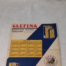 Coleccionismo Papel secante: ANTIGUO PAPEL SECANTE GLEFINA. LASA.CON CALENDARIO 1932. Lote 201195897