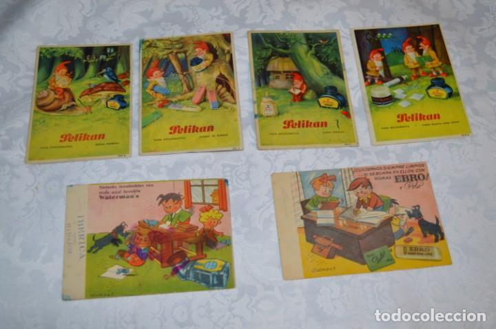 ANTIGUOS / VINTAGE - 6 SECANTES / PELIKAN, EBRO Y WATERMAN'S - ¡MIRA FOTOS Y DETALLES! (Coleccionismo - Papel Secante)