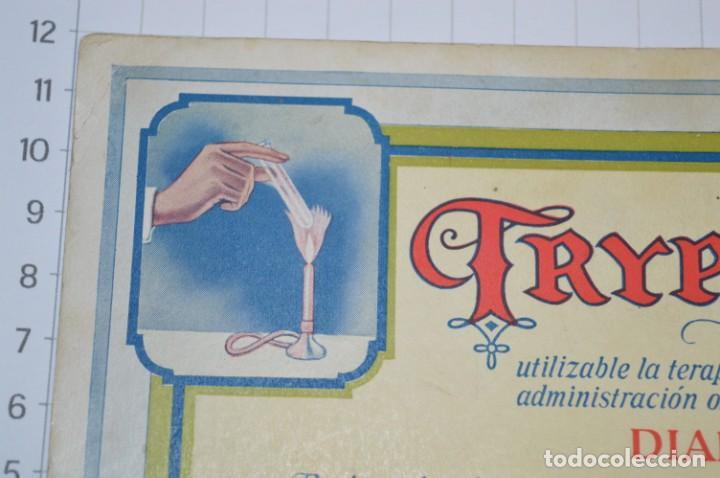Coleccionismo Papel secante: Antiguos / Vintage -- Secante TRYPSOGEN -- ¡Raro y difícil, NUEVO! - ¡Mira fotos y detalles! - Foto 3 - 202766786