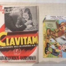 Coleccionismo Papel secante: 2 ANTIGUOS PAPELES SECANTES PUBLICITARIOS. Lote 204190838